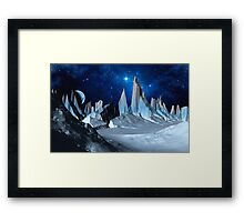 Worlds Beyond the Ice Framed Print