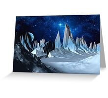 Worlds Beyond the Ice Greeting Card