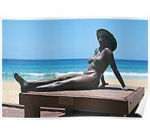 Bronzed Aussie, Currumbin Beach. Poster