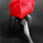 Woman with the Red Umbrella by Kym Howard