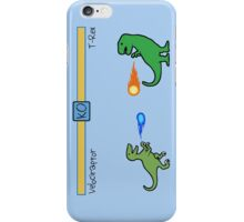Dinosaur Fighter Game - Velociraptor vs T-Rex iPhone Case/Skin