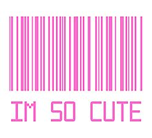 I'm So Cute Barcode Photographic Print