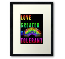 CREATE YOUR REALITY: LGBT Framed Print