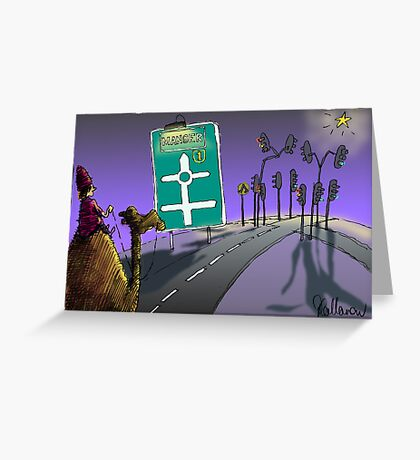Wise mens' journey Greeting Card