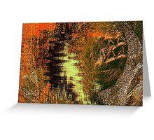 cave wall shadows, sketches....... early homo sapiens Greeting Card