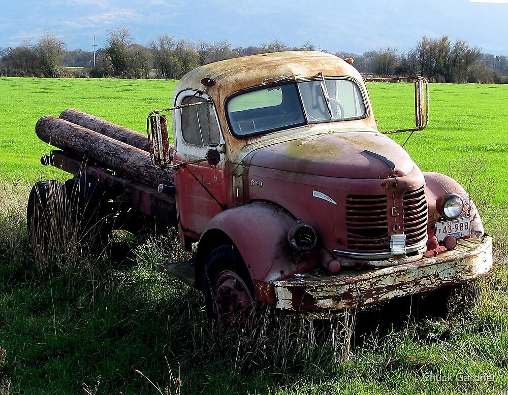 """Gold Comet R E O""-  Farm Truck (1946 or so?) by Chuck Gardner"