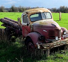"""Gold Comet R E O""-  Farm Truck (1946 or so?) by Chuck Gardner"