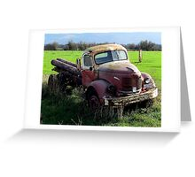 """Gold Comet R E O""-  Farm Truck (1946 or so?) Greeting Card"