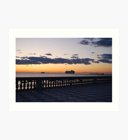 Silhouettes at sunset Art Print
