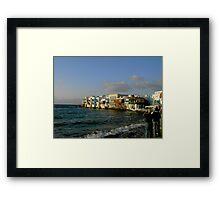 Mykonos Chora ~ Little Venice Framed Print