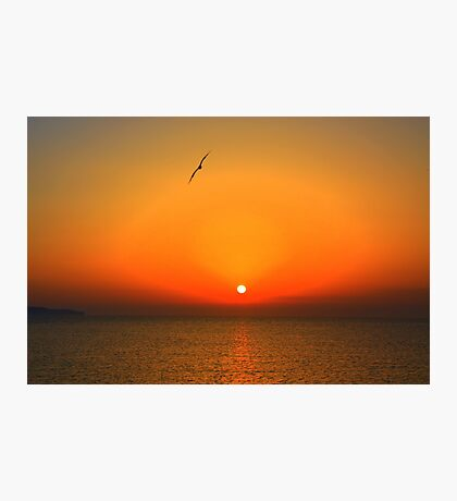 Sicilian sunset over Trapani Photographic Print