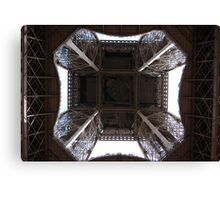 Looking up at the Eiffel Tower - Paris France Canvas Print