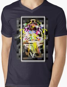 16-Bit Phantom Pixels Mens V-Neck T-Shirt