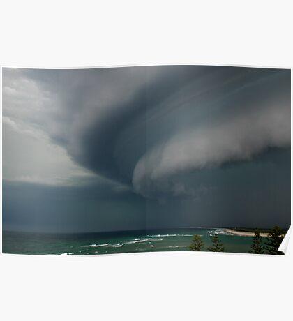 Summer Storm - Bribie Island Poster
