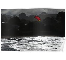 Surfers, Coles Beach NW Tasmania Poster