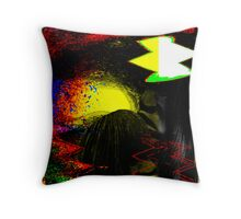 early man sketches... an abstract Throw Pillow