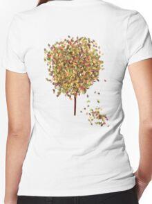 Falling Leaves T-Shirt Women's Fitted V-Neck T-Shirt