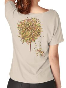 Falling Leaves T-Shirt Women's Relaxed Fit T-Shirt