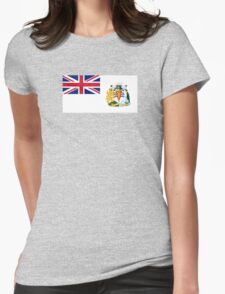 Flag of the British Antarctic Treaty  Womens Fitted T-Shirt