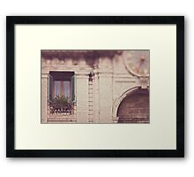Window in Italy Framed Print