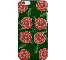 Red Flower Mandala iPhone Case/Skin