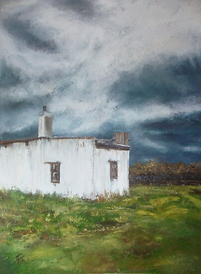 Blombosch cottage stormy day - near Yzerfontein by Alma Horn