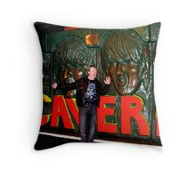 Rock on jimmy boy Throw Pillow