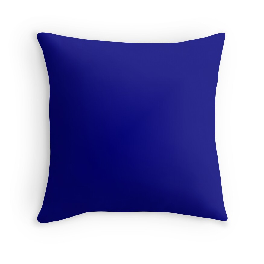 Dark Blue Throw Pillow :