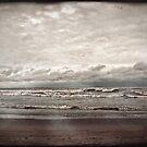 a dark day at the beach by Angel Warda