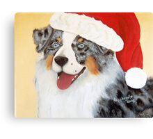 Christmas ~ Australian Shepherd ~ oil painting Canvas Print