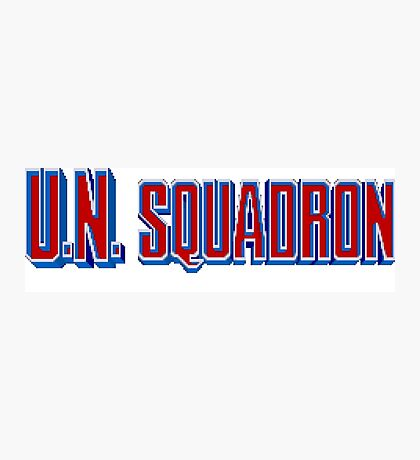 U.N. Squadron - SNES Title Screen Photographic Print