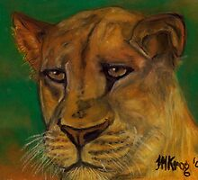 Lioness Lying in Wait by Mariaan Maritz Krog Fine Art Portfolio