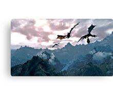 dragon over the mountain Canvas Print