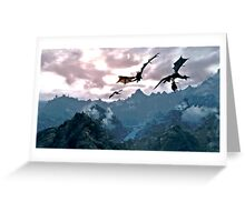 dragon over the mountain Greeting Card
