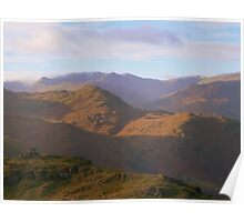 The Lake District: Distant Helvellyn Poster