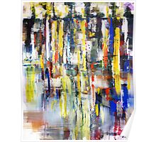 World beneath the Sky, abstract landscape art painting Poster