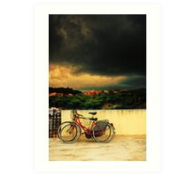 Under an ominous sky Art Print