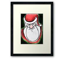 Santa's sly eyes Framed Print