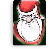 Santa's sly eyes Canvas Print