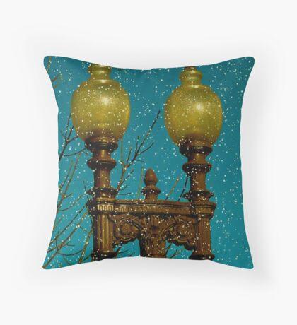 The Lamppost Throw Pillow