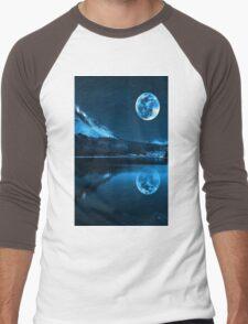 Night. Full Moon Men's Baseball ¾ T-Shirt