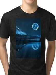 Night. Full Moon Tri-blend T-Shirt