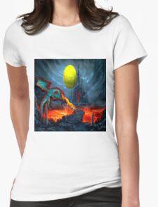 Dragon Blasting Castle Black Womens Fitted T-Shirt