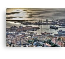 Genoa Port Canvas Print