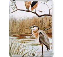 Herons Vintage Art iPad Case/Skin