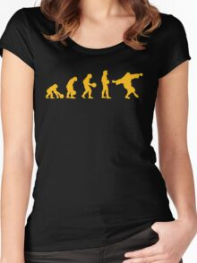 The Big Lebowski evolution yellow Women's Fitted Scoop T-Shirt