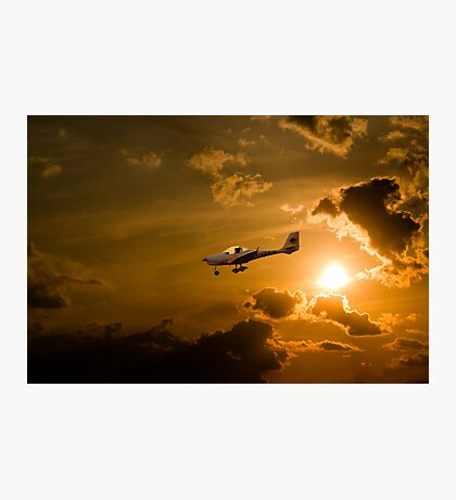 Firy Sky Landing Photographic Print