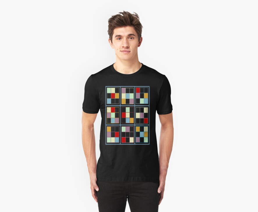 Square Grid T-Shirt by simpsonvisuals