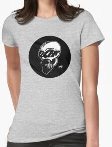 Shaded Skull Womens Fitted T-Shirt