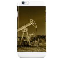Oil pumps on a oil field. iPhone Case/Skin